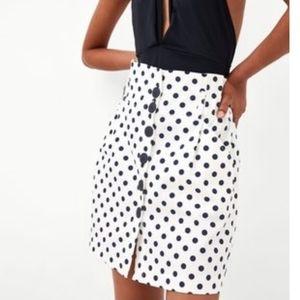 NWOT Zara Polka dot mini skirt